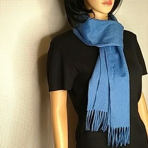 Sky blue cashmere scarf made in China as is